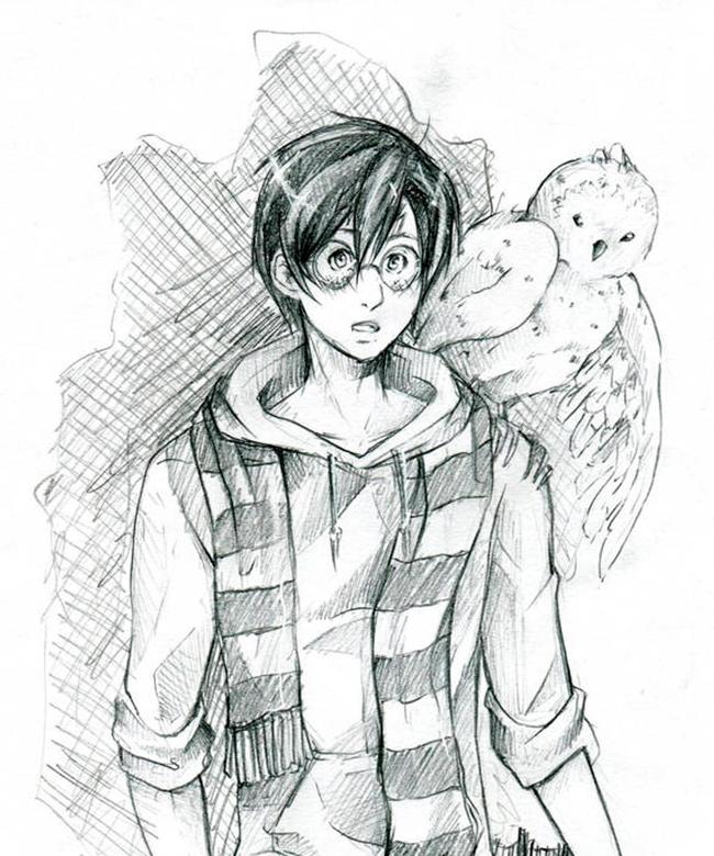 Гарри Поттер картинки для срисовки