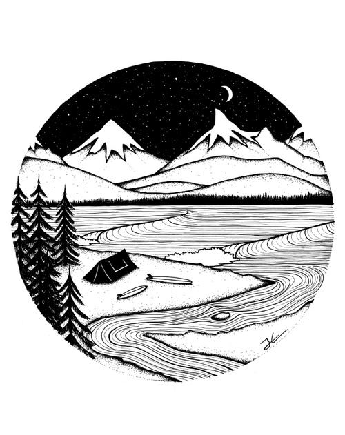 Черно белые рисунки