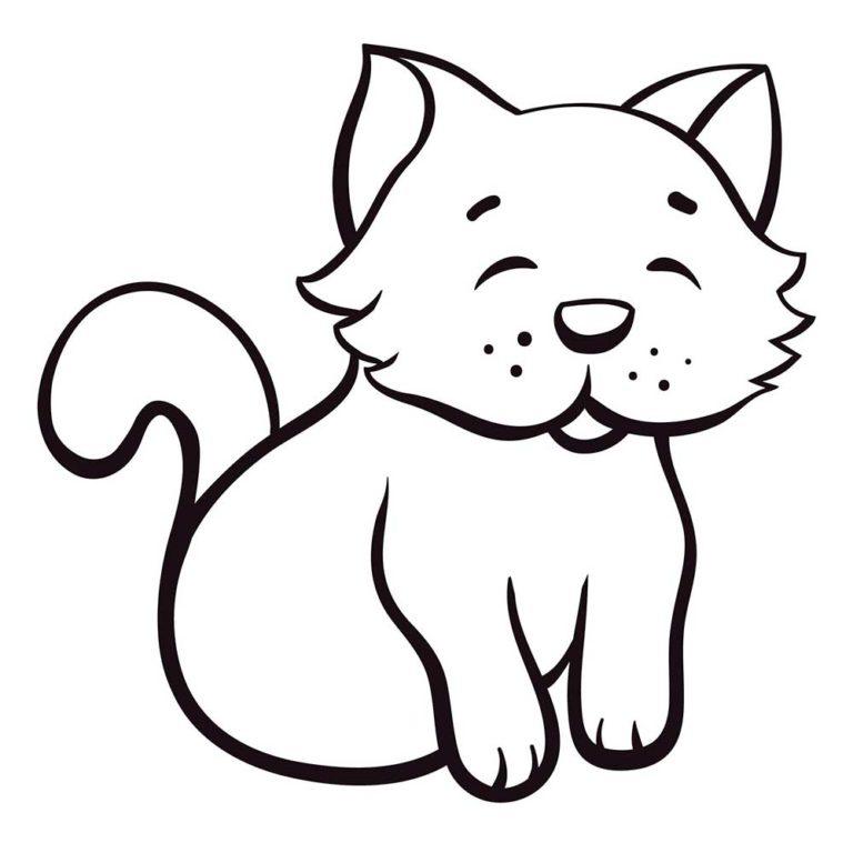 Рисунки для срисовки собаки и кошки