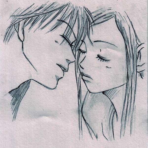 Рисунки для срисовки про любовь