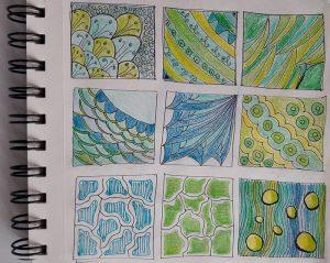 Шаблоны для рисования узоров зенарт