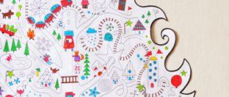 Елочка раскраска для детей