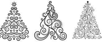 картинки и шаблоны новогодних елок