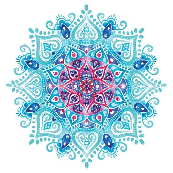 Три цветные мандалы