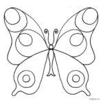 трафареты и раскраски бабочки