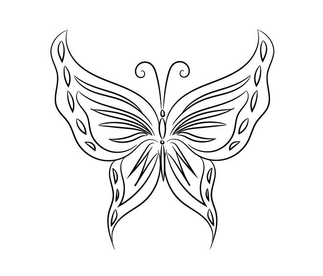 Бабочки – трафареты, шаблоны, раскраски