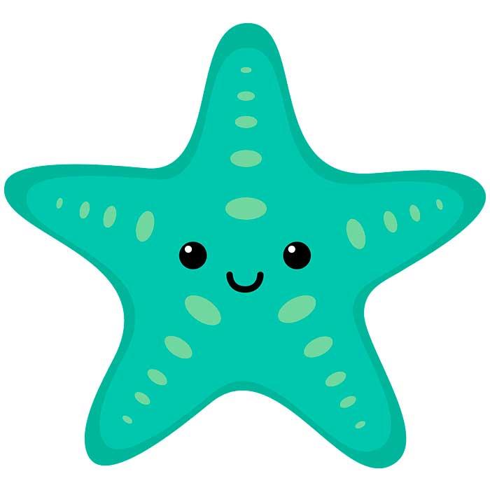 Детская картинка морская звезда