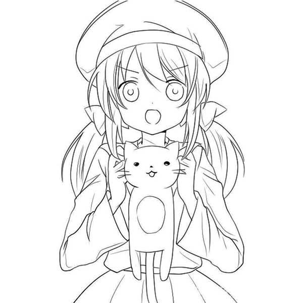 Картинки для срисовки аниме девочки в стиле чиби карандашом без цвета