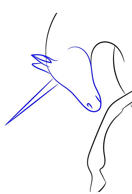 Как нарисовать единорога карандашом