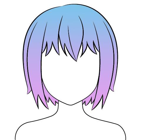 Как нарисовать аниме волосы