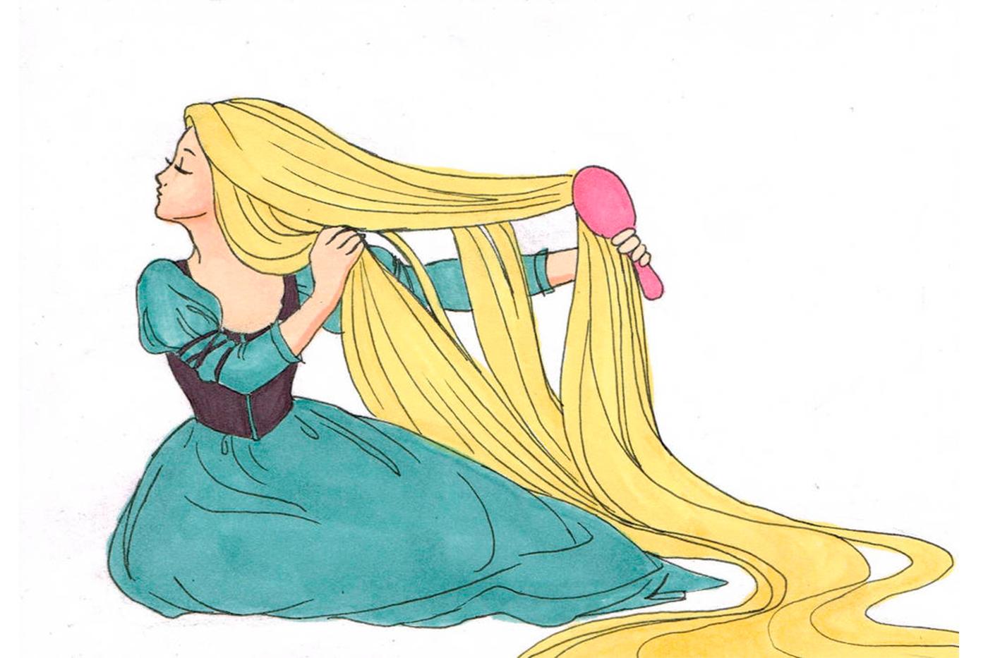 Мультяшные волосы картинка