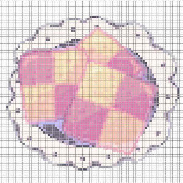 рисунки по клеточкам еда
